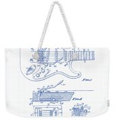 Fender Guitar Patent Drawing Weekender Tote Bag