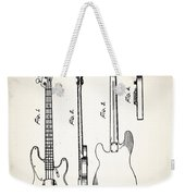 Fender Precision Bass Patent 1952 Weekender Tote Bag
