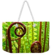 Fern Fronds Fine Art Photography Forest Ferns Green Baslee Troutman Weekender Tote Bag