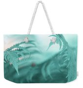 Fern Leaves Abstract. Nature In Alien Skin Weekender Tote Bag