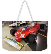 Ferrari 312t4 Front Left Museo Ferrari Weekender Tote Bag
