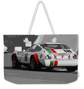 Ferrari Daytona 365 Gtb4 - Italian Flag Livery Weekender Tote Bag