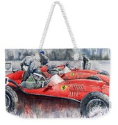 Ferrari Dino 246 F1 1958 Mike Hawthorn French Gp  Weekender Tote Bag by Yuriy Shevchuk