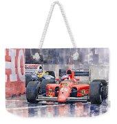 1991 Ferrari F1 Jean Alesi Phoenix Us Gp Arizona 1991 Weekender Tote Bag