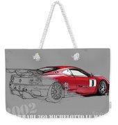 Ferrari Michelotto Race Car. Handmade Drawing. Number 9 Le Mans Weekender Tote Bag