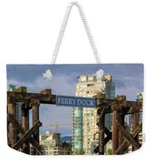 Ferry Dock At Granville Island In Vancouver Bc Closeup Weekender Tote Bag
