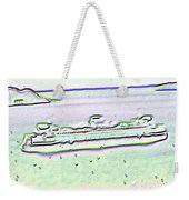 Ferry In The Rain Weekender Tote Bag
