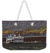 Ferry On Elliott Bay 3 Weekender Tote Bag