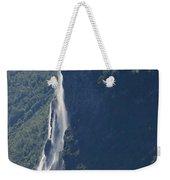 Ferry Passing Waterfall Weekender Tote Bag