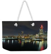 Ferry Terminal In Vancouver Bc At Night Weekender Tote Bag