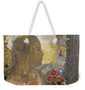 Fertility. Woman In Flowers Weekender Tote Bag