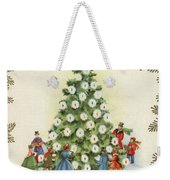 Festive Christmas Tree In A Town Square Weekender Tote Bag