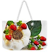 Festive Garlic Weekender Tote Bag