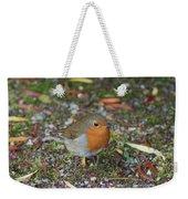 Festive Robin Weekender Tote Bag
