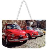 Fiat 500's In Bracciano Italy Weekender Tote Bag