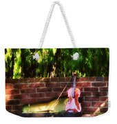Fiddle On The Garden Wall Weekender Tote Bag