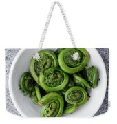 Fiddleheads From Above Weekender Tote Bag
