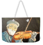 Fiddler Blue Weekender Tote Bag