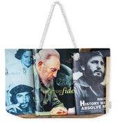Fidel At The Used Book Sellers Market Weekender Tote Bag