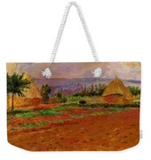 Field And Haystacks 1885 Weekender Tote Bag