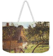Field At Varengeville Weekender Tote Bag by Camille Pissarro