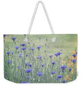Field Of Bachelor Buttons Weekender Tote Bag