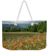 Field Of Orange Daylilies Weekender Tote Bag