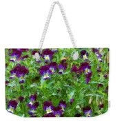 Field Of Pansy's Weekender Tote Bag