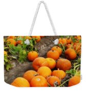 Field Of Pumpkins Card Weekender Tote Bag