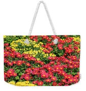 Field Of Red And Yellow Flowers Weekender Tote Bag