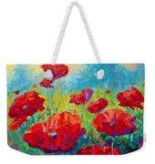 Field Of Red Poppies Weekender Tote Bag