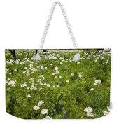 Field Of White Poppies Weekender Tote Bag