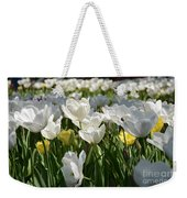 Field Of White Tulips Weekender Tote Bag