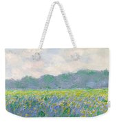 Field Of Yellow Irises At Giverny Weekender Tote Bag