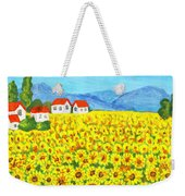 Field With Sunflowers Weekender Tote Bag