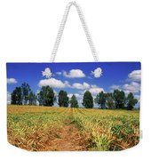 Fields Of Chopped Flowers At Nir Banim Weekender Tote Bag