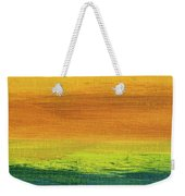 Fields Of Gold 3 - Abstract Summer Landscape Painting Weekender Tote Bag