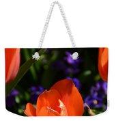 Fiery Colored Tulips Weekender Tote Bag