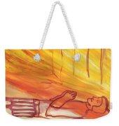 Fiery Four Of Swords Illustrated Weekender Tote Bag