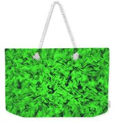 Fiery Green Weekender Tote Bag