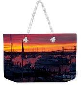 Fiery Harbor Weekender Tote Bag