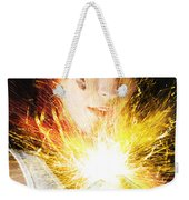 Fiery Jump Start Weekender Tote Bag