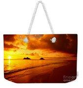 Fiery Lanikai Beach Weekender Tote Bag