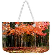 Fiery Leaves Weekender Tote Bag