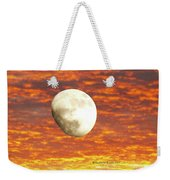 Fiery Moon Weekender Tote Bag