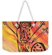 Fiery Nine Of Swords Illustrated Weekender Tote Bag