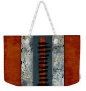 Fiery Red And Indigo Two Of Two Weekender Tote Bag