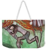 Fiery Seven Of Swords Illustrated Weekender Tote Bag
