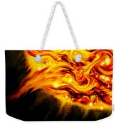 Fiery Sun Erupting With M1.7 Class Solar Flare Weekender Tote Bag