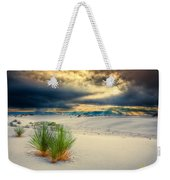 Fiery Sunrise At White Sands Weekender Tote Bag